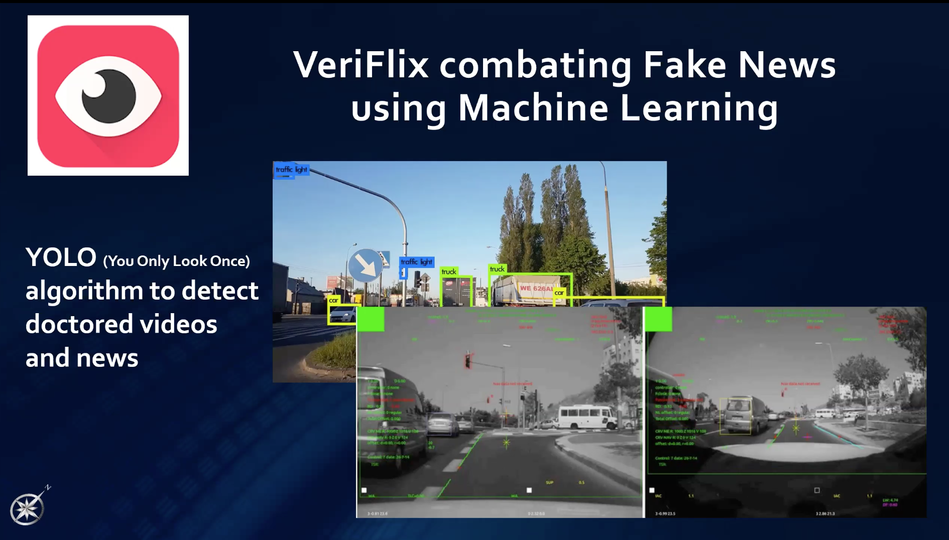 Image of veriflix app detecting fake image and news.